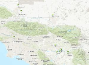 南加州项目地点分布图